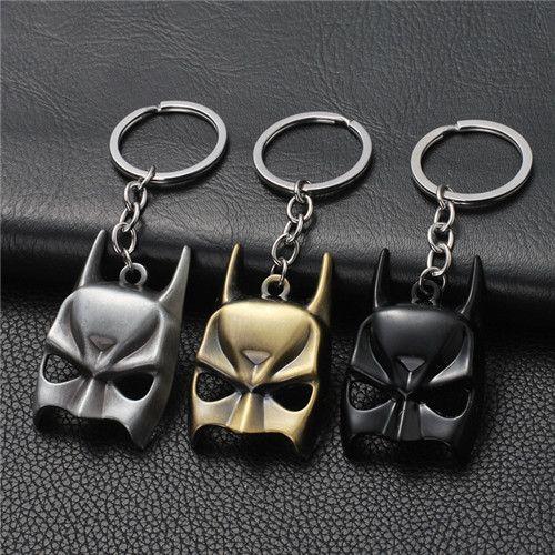 17 styles Superohero Batman Movie Metal Keychain Avengers Bat Man Logo Key Chain Keyring Anime Figure Pendant Key Holder Xmas Trinke jssl001