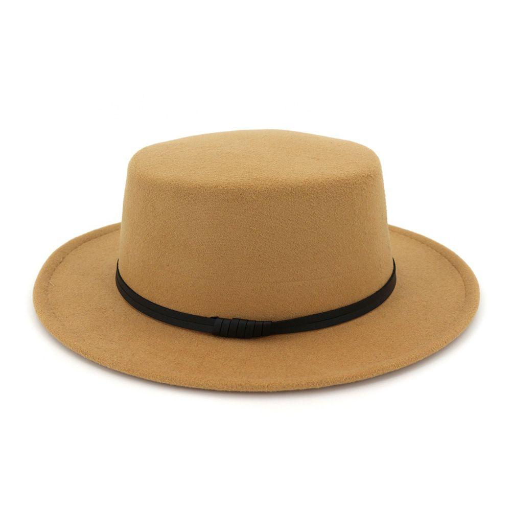 Fedora en feutre de laine Chapeau de Panama Femmes Lady Laine large BriM décontractée en plein air couleurs Jazz Cap 5 C1948