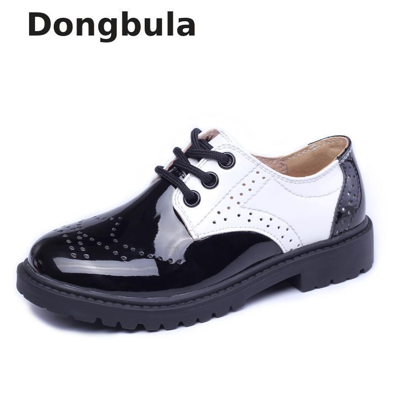Kız Erkek Çocuk Siyah Okul Performansı Örgün Düz Loafer Makosenler Ayakkabı için yığın Deri Çocuklar Gerçek Deri Gelinlik Ayakkabı ...
