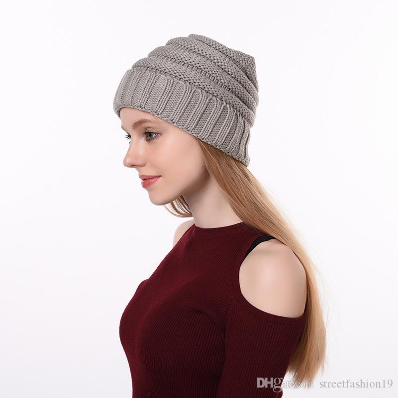 Hot Beanies Winter Hat pom pom Caps Letter for Women Girl Vintage Warm Spring Autumn Hat Female