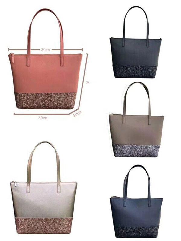 Big Glitter sac fourre-tout en cuir PU femmes sac à main sacs à bandoulière
