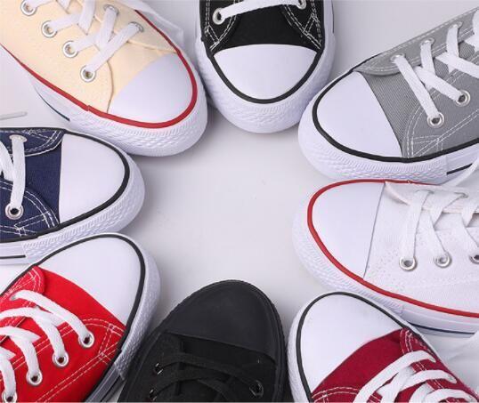 EUR35-45 Nuevo estrella conver lienzo zapatos mujeres y hombres estilo alto / bajo estilo zapatos de lona clásicos zapatillas de lona zapato