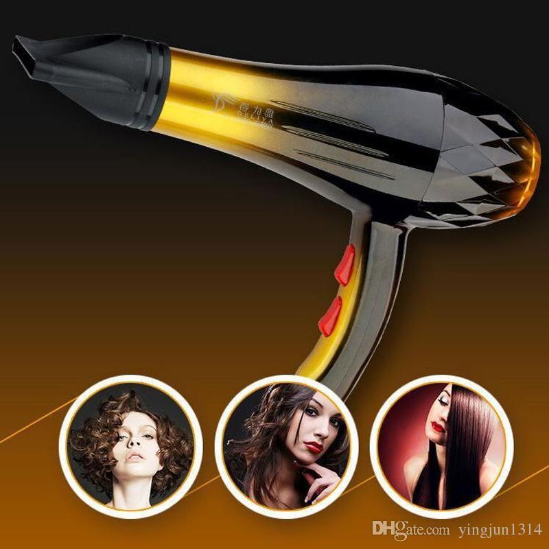 2200W Équipement de salon de cheveux multifonctions faible bruit puissant Séchoir de soufflage à air chaud et froid Anion Céramique Professionnel Sèche-cheveux