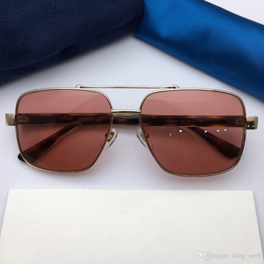 Lens occhiali di protezione UV400 di lusso occhiali da sole per uomini e delle donne del progettista quadrano gambe lettere in metallo stile eccellente della stella 0529