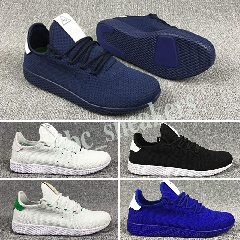 Adidas Tennis HU Unisex Pharrell Williams Tennis HU Classic Originals Running Shoes Primeknit Upper Sports Shoes ténis de alta qualidade ténis de corrida Tamanho 36-44 b03