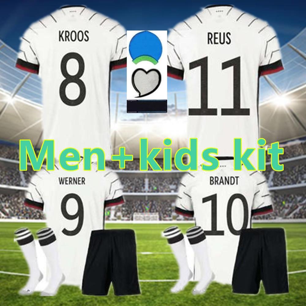 MEN + KIDS 독일 2020 홈 축구 유니폼 어웨이 유니폼 세트 HUMMELS KROOS 드락 슬러 레 우스 MULLER GOTZE KIMMICH 축구 셔츠 유니폼