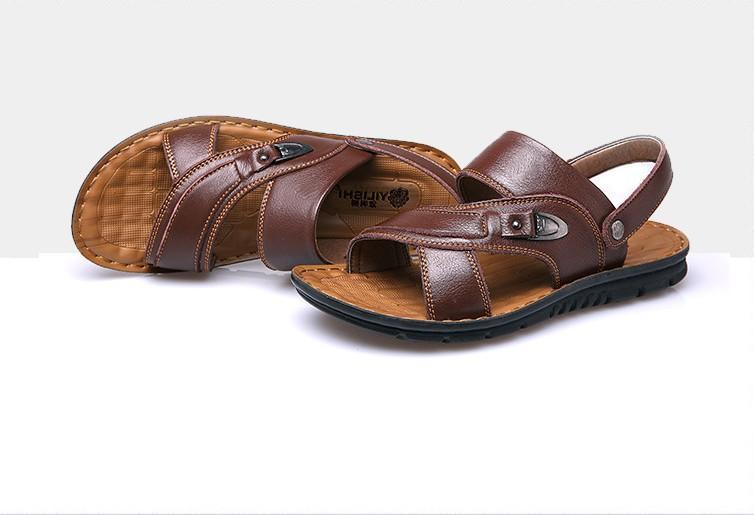 Vendita-Men pantofola gioco mare caldo sandle fredda progettato sandali uomo pantofola sandalo in pelle per gli uomini gentiluomo due utilizzo zys06