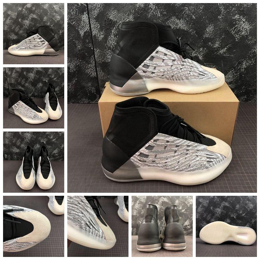 ADIDAS Новый Quantum 1 Kanye West баскетбол обувь 3 м светоотражающие статические Белый 1s мужская баскетбольная обувь для мужчин Kanye спортивный дизайнер кроссовки размер 11