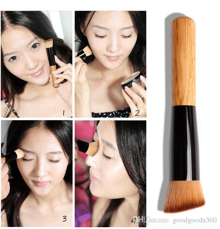 Multifunctional professional makeup brush powder concealer red liquid foundation makeup brush set wooden kabuki brush cosmetics SZ117