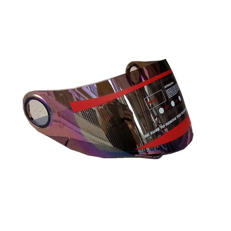 고양이 귀를위한 Malushun 오토바이 헬멧 바이저 렌즈 동물의 뿔은 전체 얼굴 헬멧 바이저 미러 안티 UV PC 실드 렌즈 적합