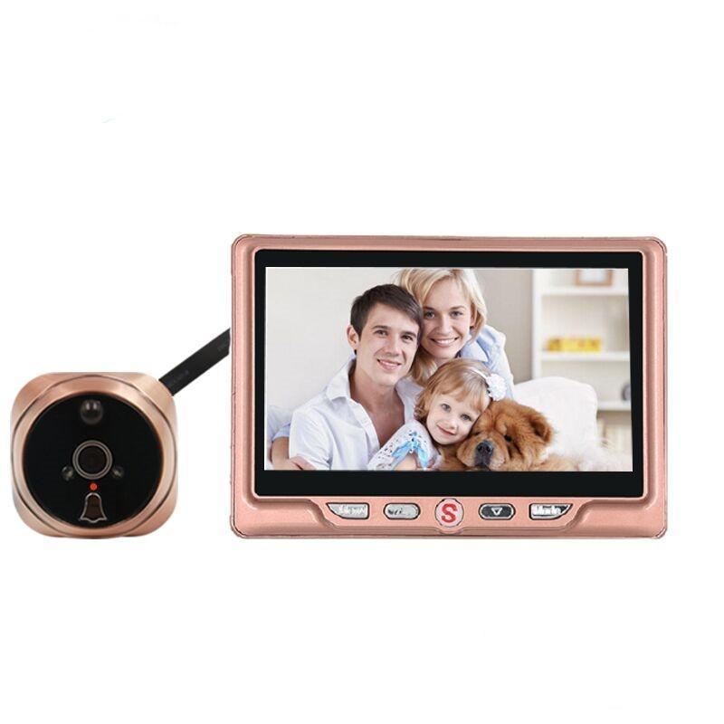 4.3 بوصة LCD باب كاميرا رقمية للتسجيل ثقب الباب تسجيل فيديو كشف الحركة باب العين الجرس فيديو