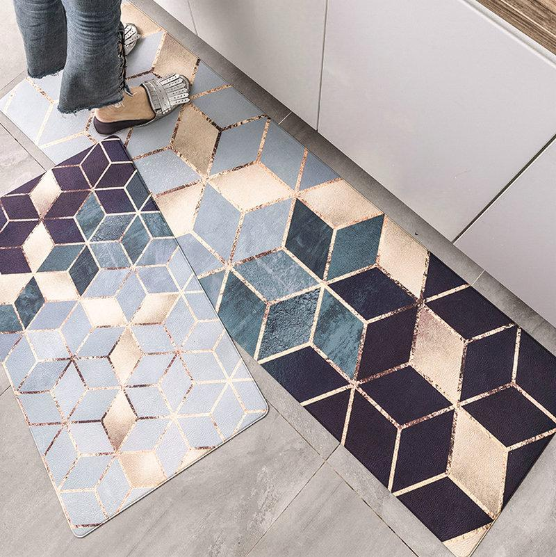 Kitchen Rugs Flooring Pad Matting Anti Slip Protect Cover Carpet Tile  Doormat Non Slip Footcloth Mat Industrial Carpets Carpet Installation Price  From ...