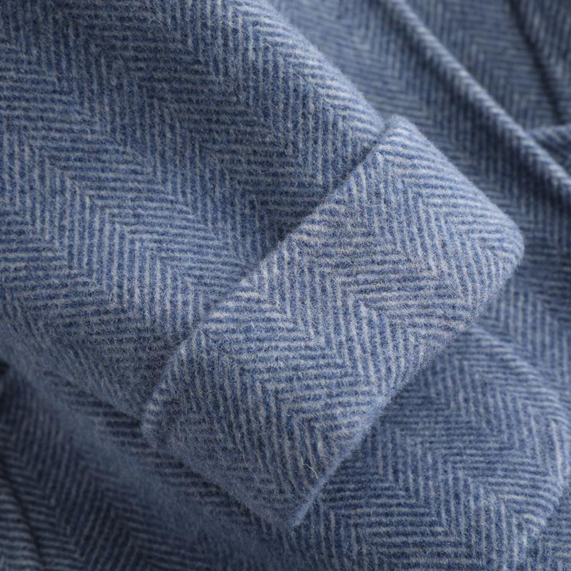 100% de las mujeres chaqueta de invierno abrigo de lana ropa de otoño 2019 de doble cara abrigo de lana chaqueta femenina manteau femme KQN39508-1