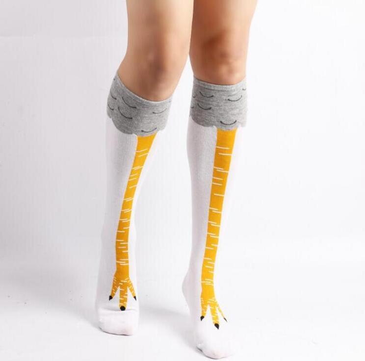 Новая мода чулок для мужчин Женские носки с милыми Patterns Популярные куриные ноги спорта чулках 3 Стили Доступные