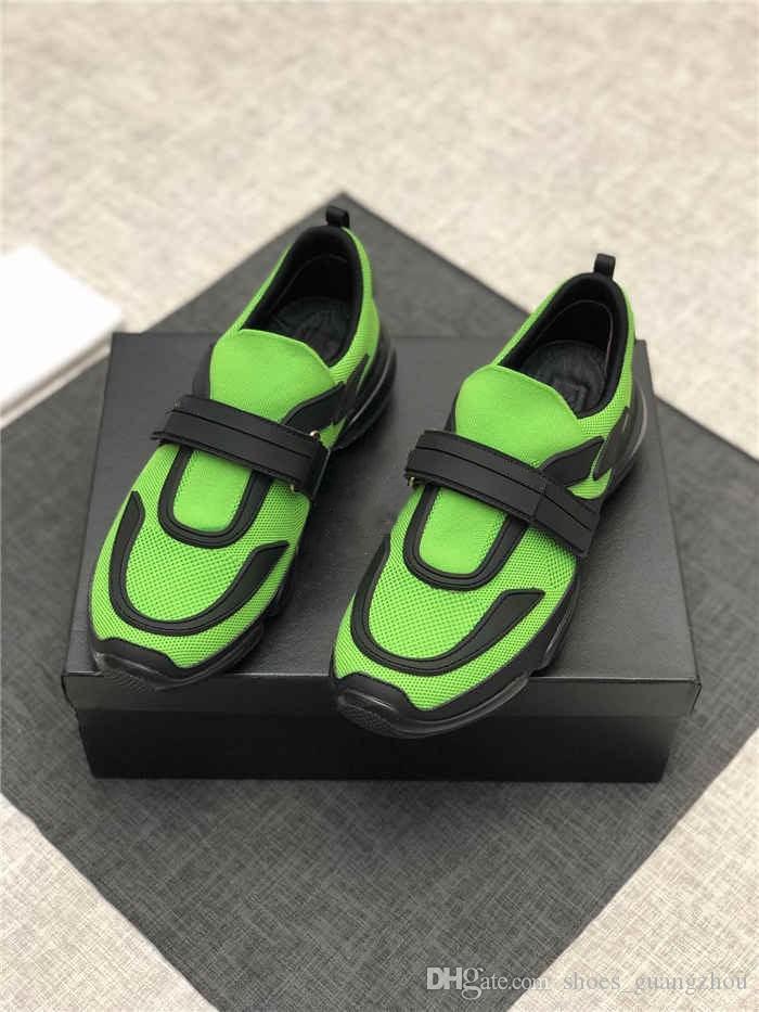 2019 mais recente Sneakers Cloudbust Mens Botas com Alça, Oversized Sneaker em Remendo De Borracha Clássico Preto Bule Laranja 7 cores tamanho 38-45