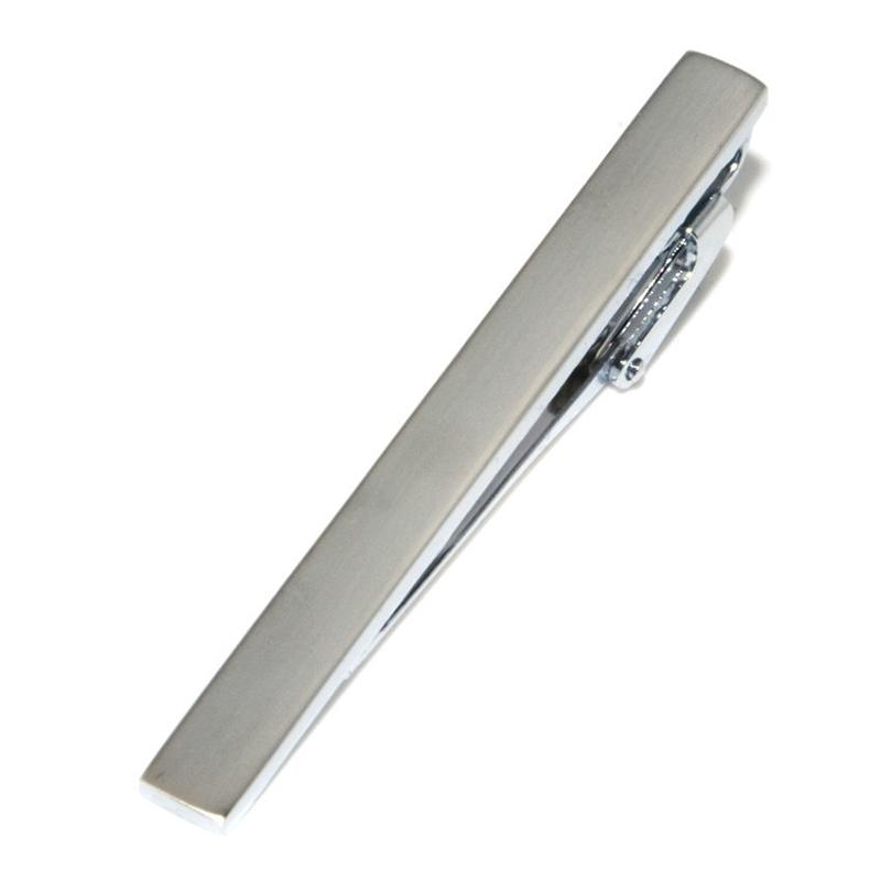 Simple Tie Clips Business Suits Shirt Necktie Tie Bar Clasps Silver Fashion Jewelry for Men Will and Sandy Drop Ship