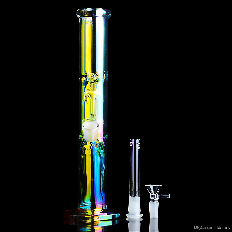 Bongos da água do vitral Rígido Dab Rigs Percolater Dab Rig com espessa base de vidro Bong Water Pipe