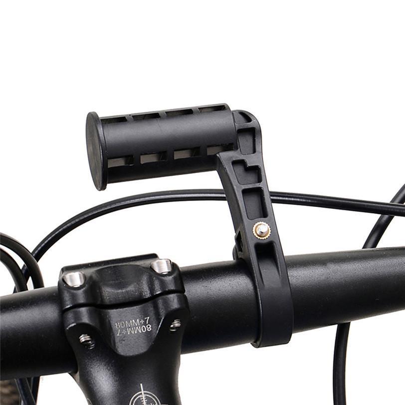 2 Pezzi Bici Manubrio Estensione Lampada Titolare Staffa Extender Ciclismo