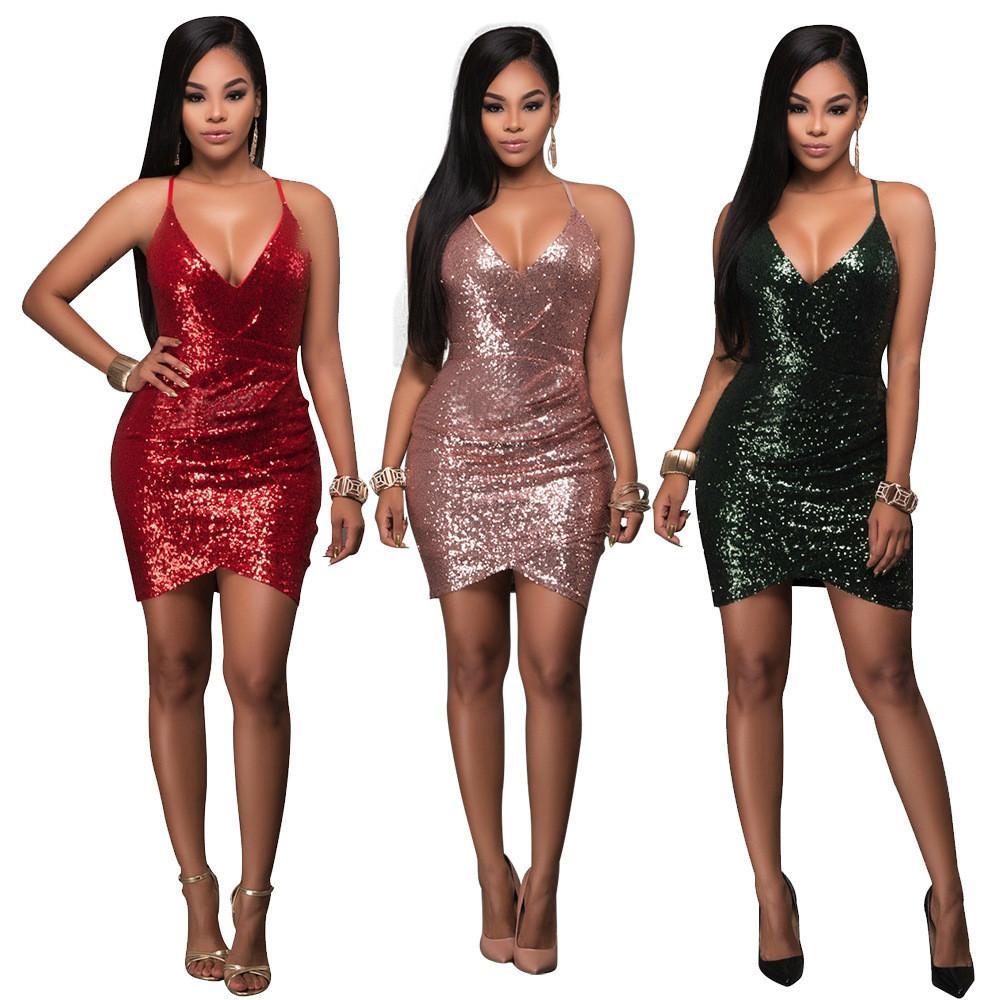 20ss tasarımcı moda Euro Moda Seksi Kulübü V yaka elbise elbise Sonbahar ve kış takım elbise kulüp elbiseler etek Üç renkli S-XL boyutu en kaliteli
