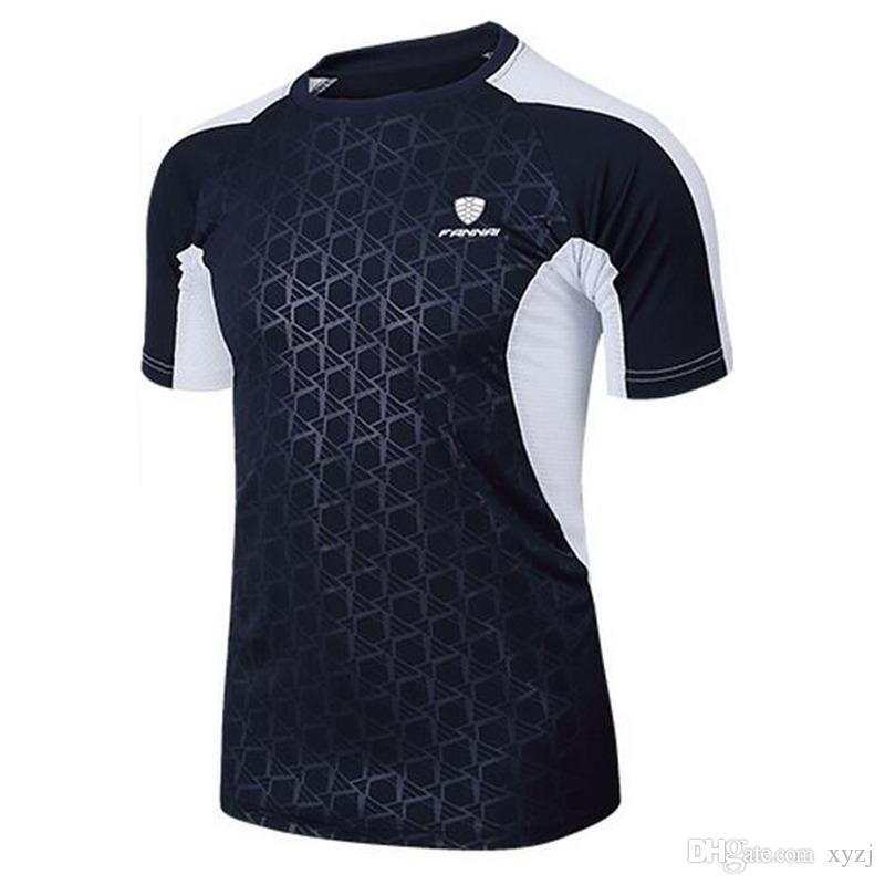 Hombres Camisa de tenis Deportes al aire libre Correr Correr Ropa Fitness Tees Bádminton Hombre Camisetas de manga corta Tops Tallas grandes