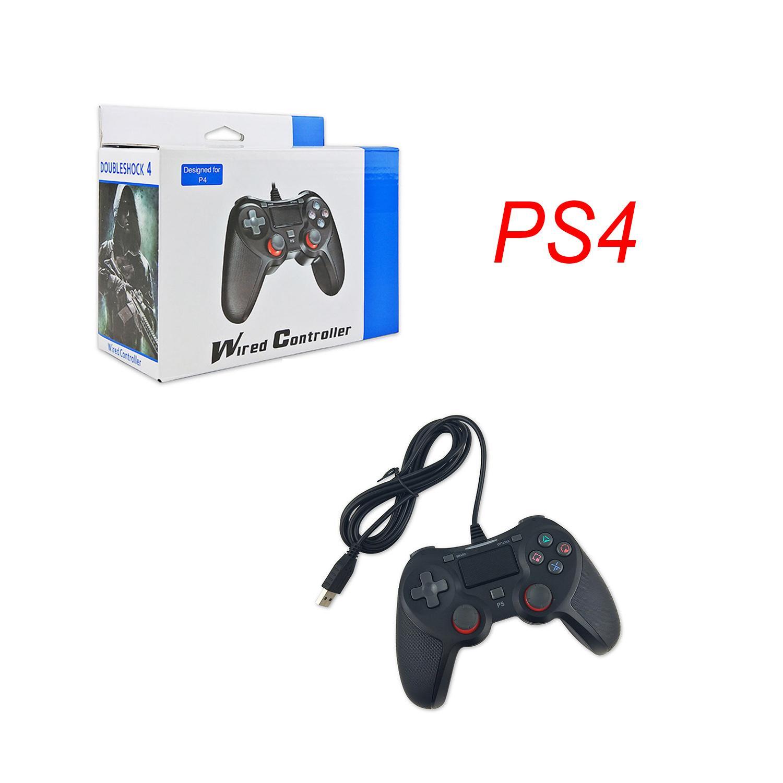 USB Wired pulsantiera SHOCK 4 Per controller di gioco PS4 vibrazioni Joystick Gamepad controller di gioco con la scatola di vendita al dettaglio trasporto veloce
