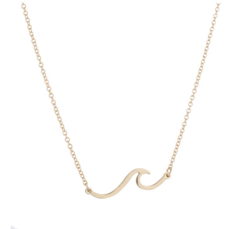Корейские женщины волна форма кулон ожерелье простой стиль мода горячий новый дизайн волна ожерелье ювелирные изделия завод Оптовая бесплатная доставка