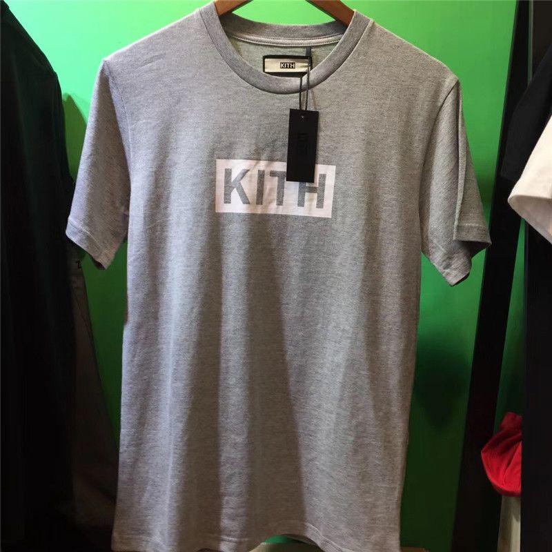 New BOX KITH T-Shirt Männer Frauen 1: 1 beste Qualität Kith T-Shirt klassisch Street Männer Baumwolle Kurzarm Top Tees Kith T-Shirts