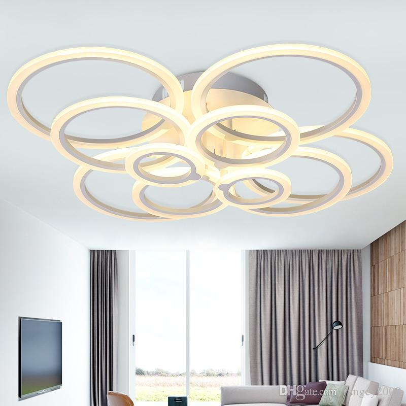 Modern Acrylic Led Ring Chandelier Ceiling Living Room Light Fixtures Dining Room Lamps Decoration Hogar Home Lighting 90-265V
