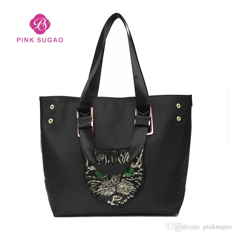 Pink Sugao designer handbags purses women tote bag chain bag travel shoulder bags cat pattern fashion army color