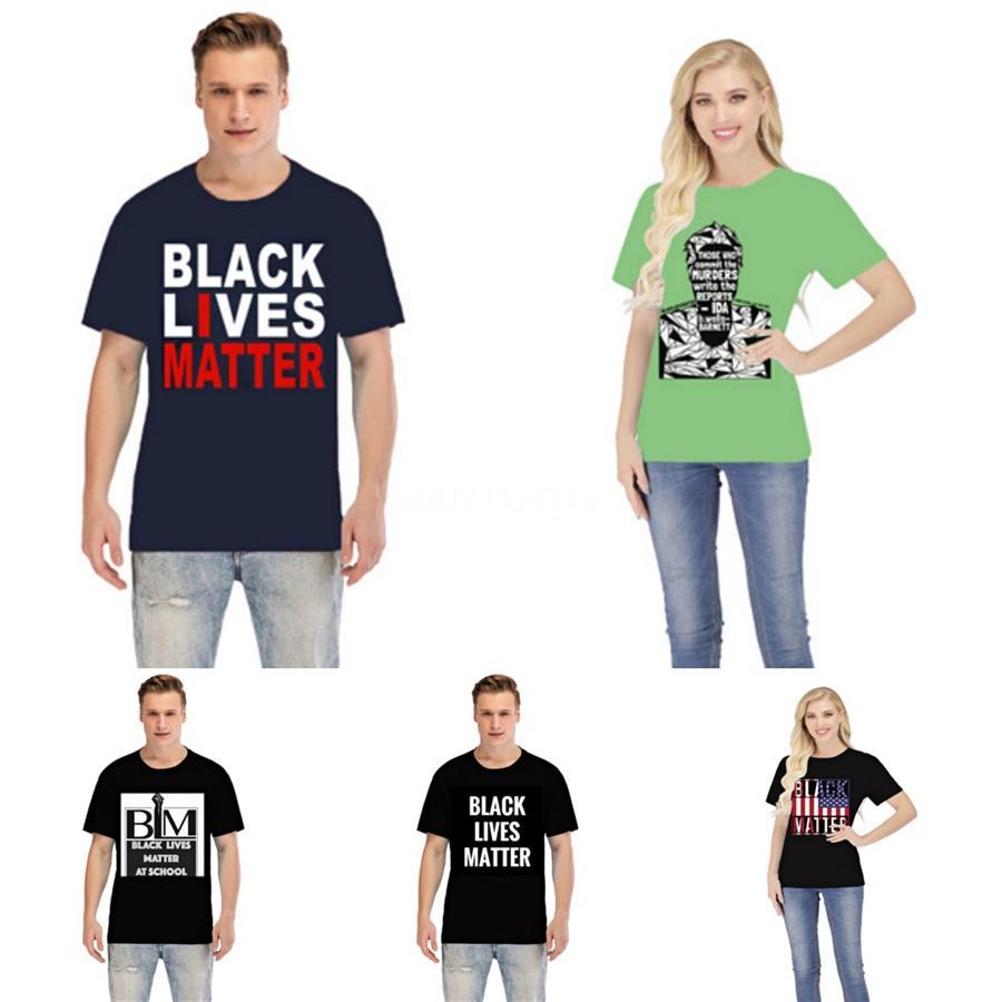 Nero Lives importa! E Americani marea European Brand T-Shirt Uomini E Donne Coppie progettista del Mens delle magliette vestiti delle donne # 69498