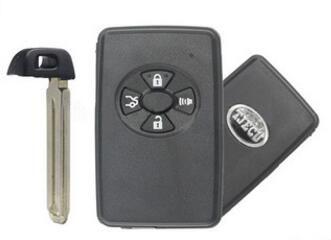 High quality auto key for Toyota Carola remote case smart key shell 4 button TOY48 (With emergency key) Black