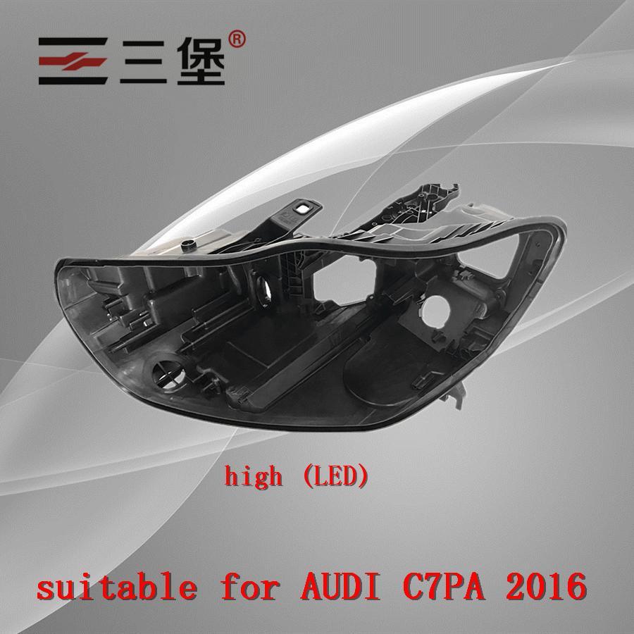 Hecho para A6L (alto) (bajo) C7PA 2016-2018 faros carcasa de plástico faro negro-cáscara de lámpara asiento trasero