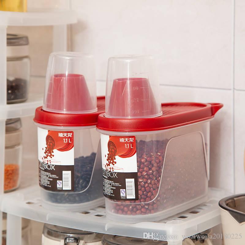 tanque de almacenamiento de plástico 20191106 caja de almacenamiento de la preservación de la cocina los alimentos