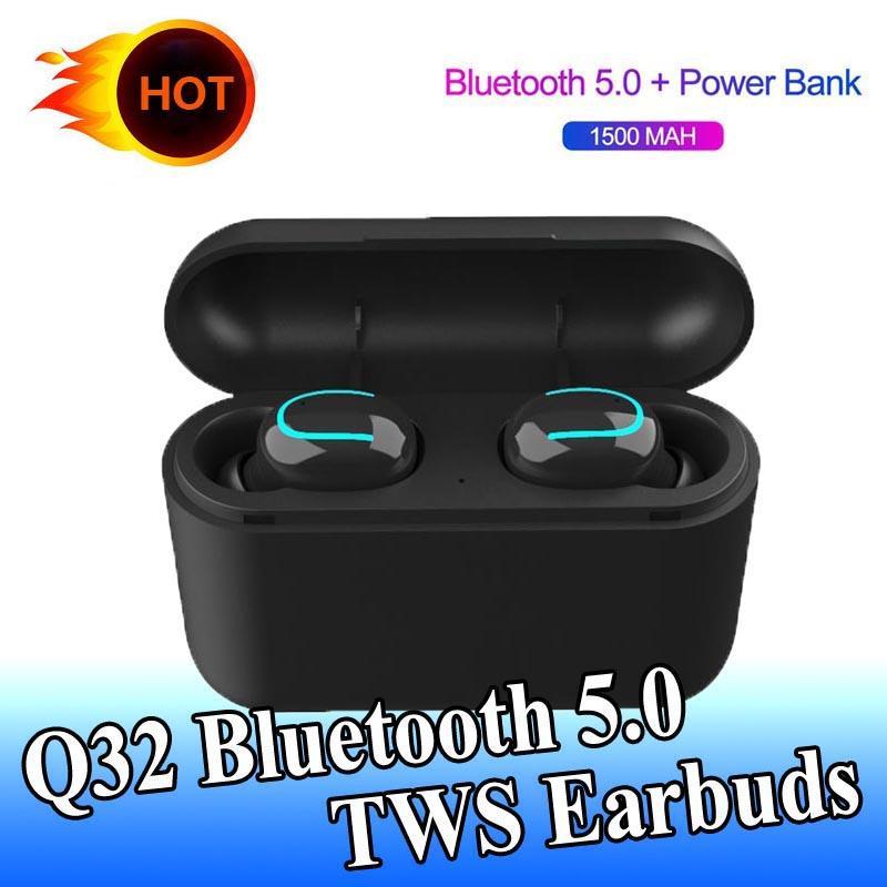Evrensel Telefonlar ile uyumlu 1 ADET Kulaklık Kablosuz Bluetooth 5.0 S32 tws Eller serbest Kulaklık Spor Kulaklık Oyun Kulaklığı