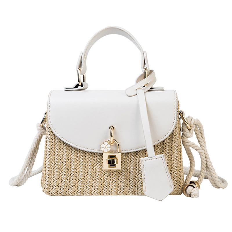 Bolsas PU Patchwork Mulheres Straw saco sacos bolsas e bolsa de ombro sacos Bandoleira da senhora bolsas femininas