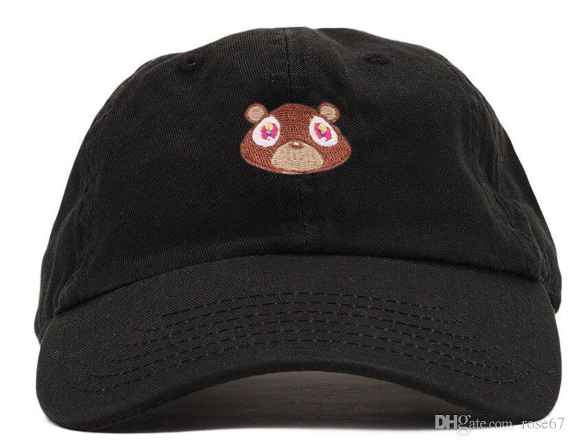 أحدث وصول الدب أبي منحني قبعة قناع Casquette البيسبول كاب النساء gorras قبعات قابل للتعديل قبعات الهيب الرجال العظام سنببك الورك عالية الجودة