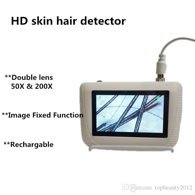 DHL Shipping Digital Facial Diagnosis Face Analysis Tester Scanner Skin Hair Analyzer Machine Freeze Fixed Picture Two Lens Available