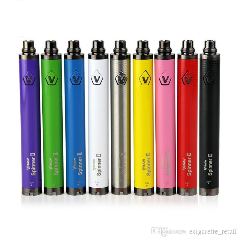 Vision Spinner 2 Batteria elettronica sigaretta Vapor 3.3 ~ 4.8V Evod 510 eGo C Twist Vision II Batteria per Ego atomizzatore Vape Pen Kit