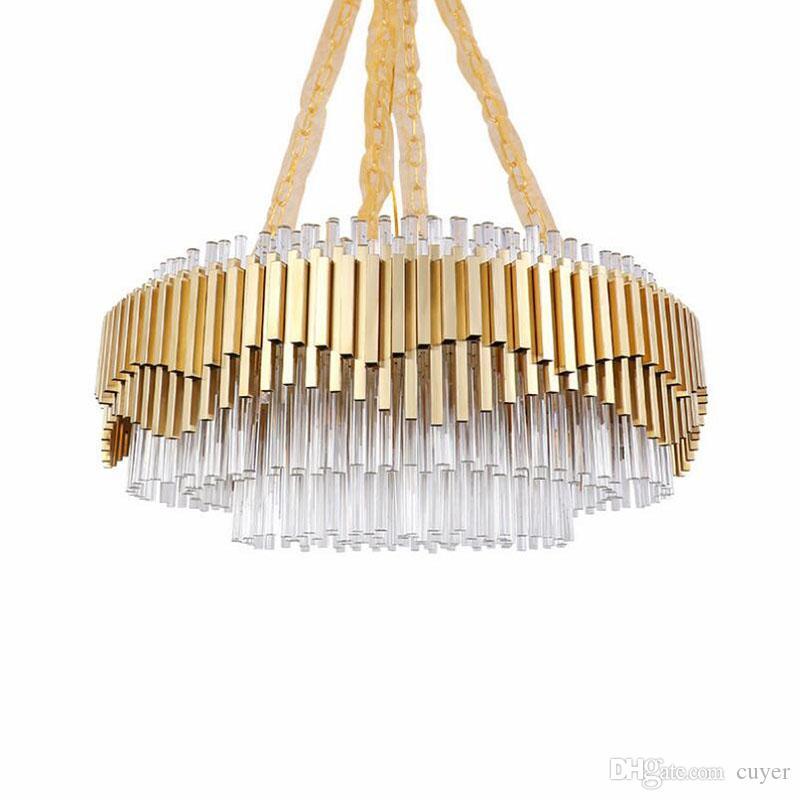 Luxus Kronleuchter Moderne Hochwertige Gold Edelstahl Kronleuchter Beleuchtung für Wohnzimmer Luxury Home-Dekoration-Lampe
