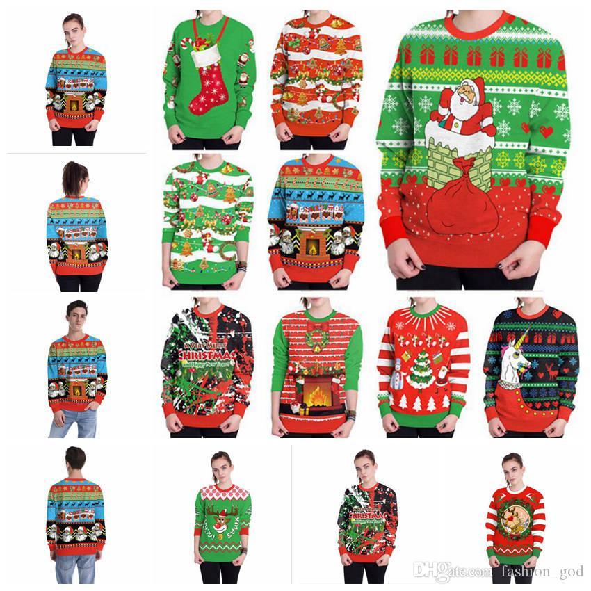 Рождественские куртки письмо толстовки женщины мужчины повседневная пальто с длинным рукавом кофты горячие блузки пуловер верхняя одежда перемычка главная одежда YL927-1