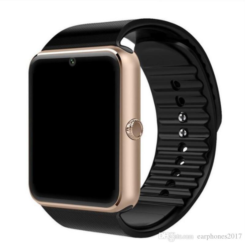 Nueva llegada ranura SmartWatch GT08 con la tarjeta de SIM inteligente Android de Samsung y el IOS de Apple teléfono inteligente iPhone pulsera Relojes Bluetooth
