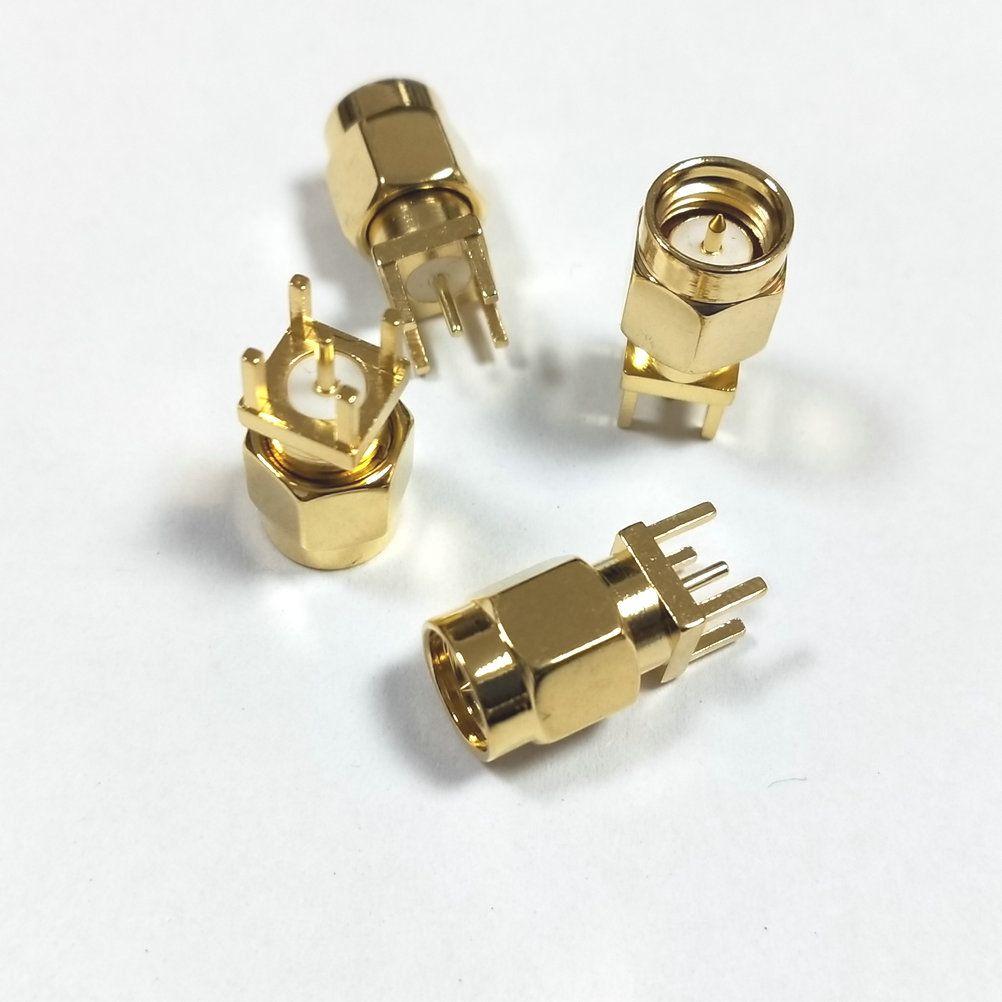 Soudure centrale de prise mâle en laiton SMA 100pcs pour connecteur RF du montage RF