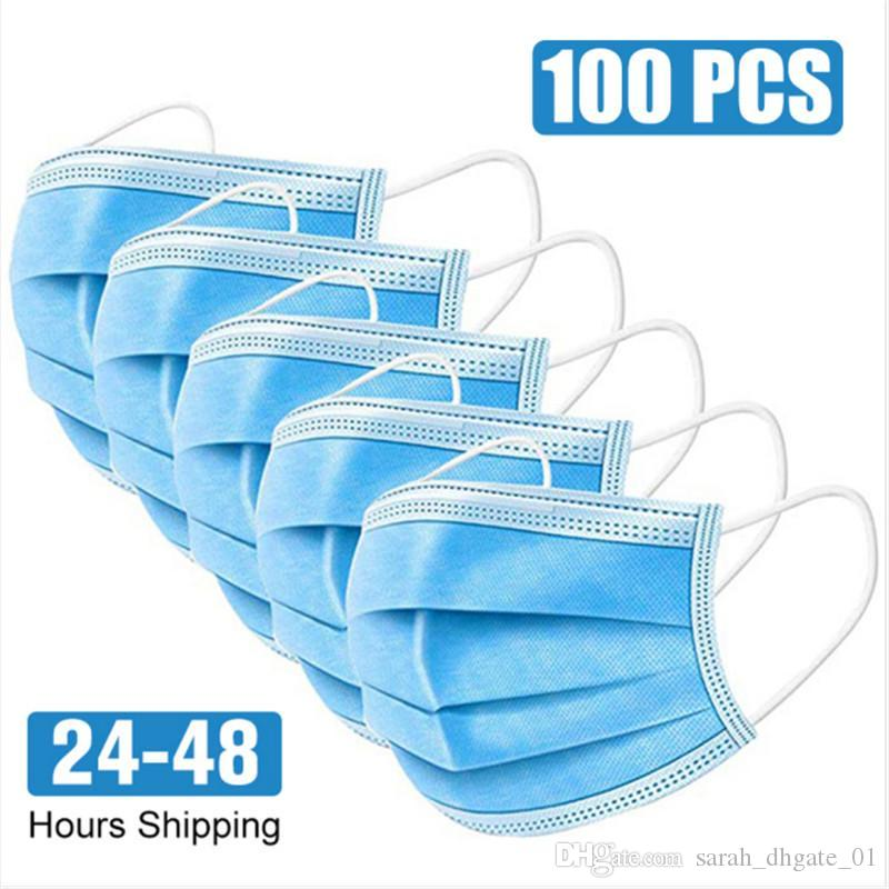 Ready To Ship! Disposable Face Mask Anti Dust Personal Protective Mask 3-Layer Masks Made Of Environmental Friendly Material n888