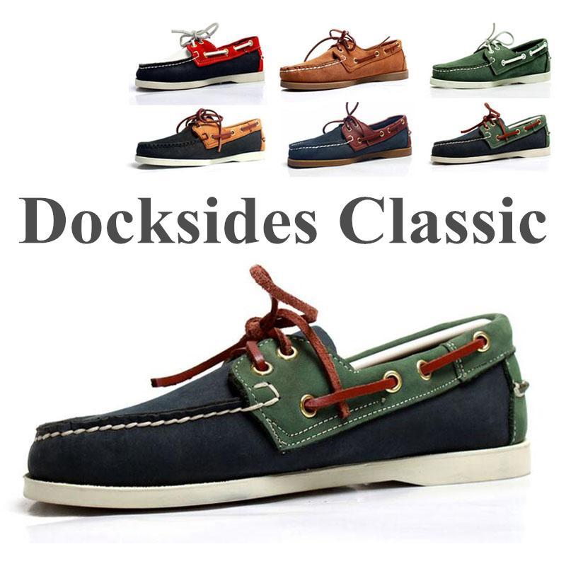 الرجال جلد طبيعي القيادة أحذية، الموضة في Docksides كلاسيكي قارب أحذية، تصميم الشقق متعطل للنساء رجال 2019A012