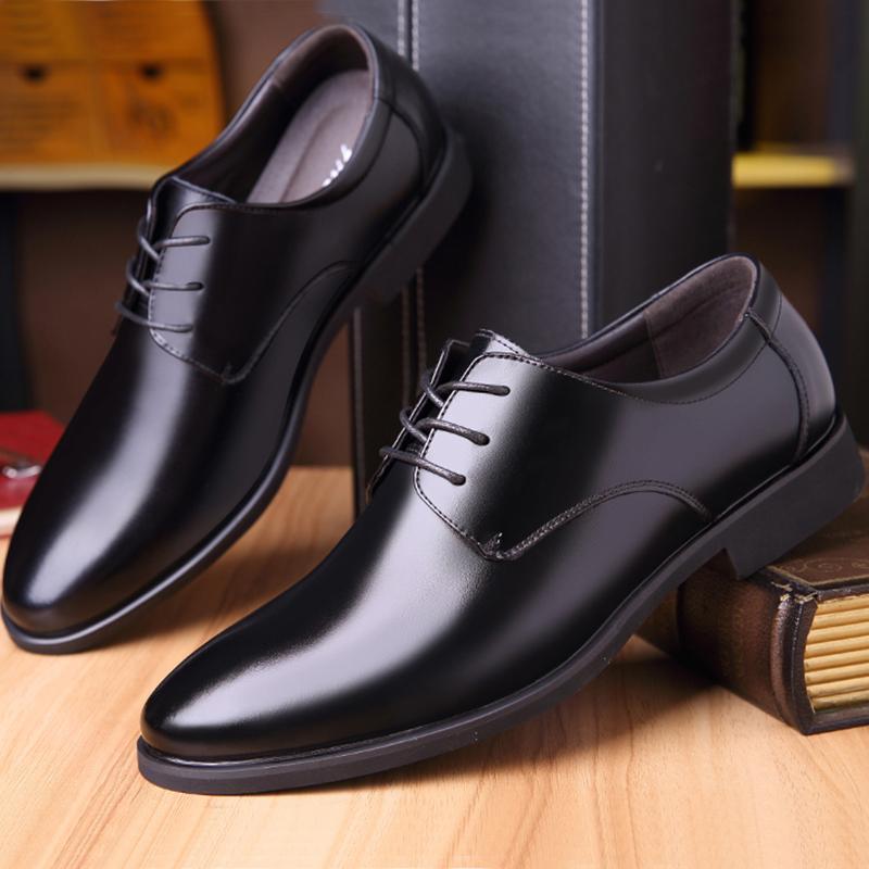 Men Leather Walking Shoes Comfortable