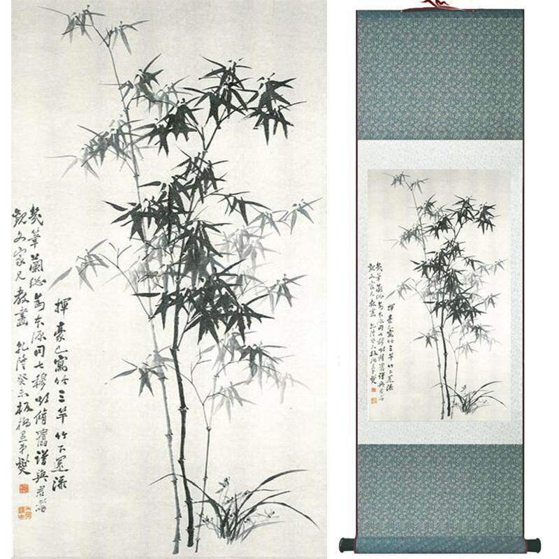 Escritório em casa decoração pintura rolagem chinesa aves pintura pintura chinesa pintura decorativa imagem 052106