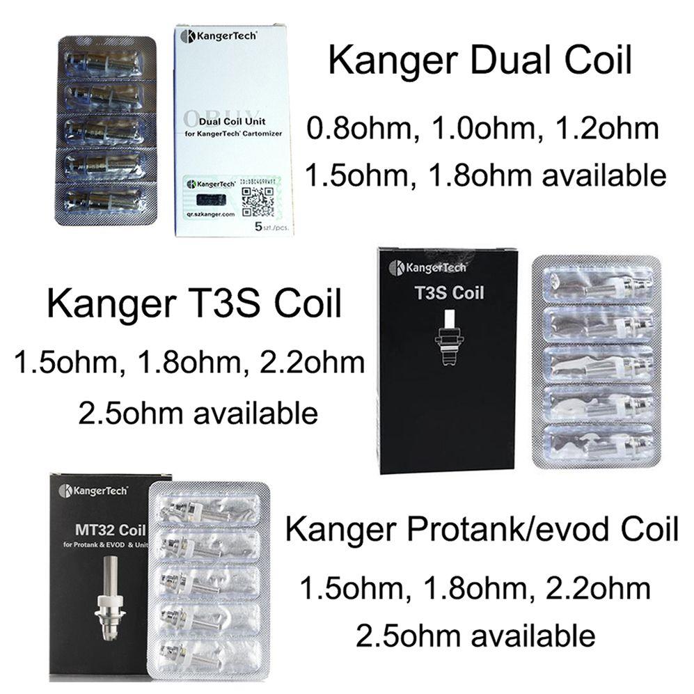 Original Kanger Neue Dual Coil Einheit protank t3s Ersatzspulen für kangertech Protank 3 genitank emow aerotank Unitank Mini Protank 2 T3s