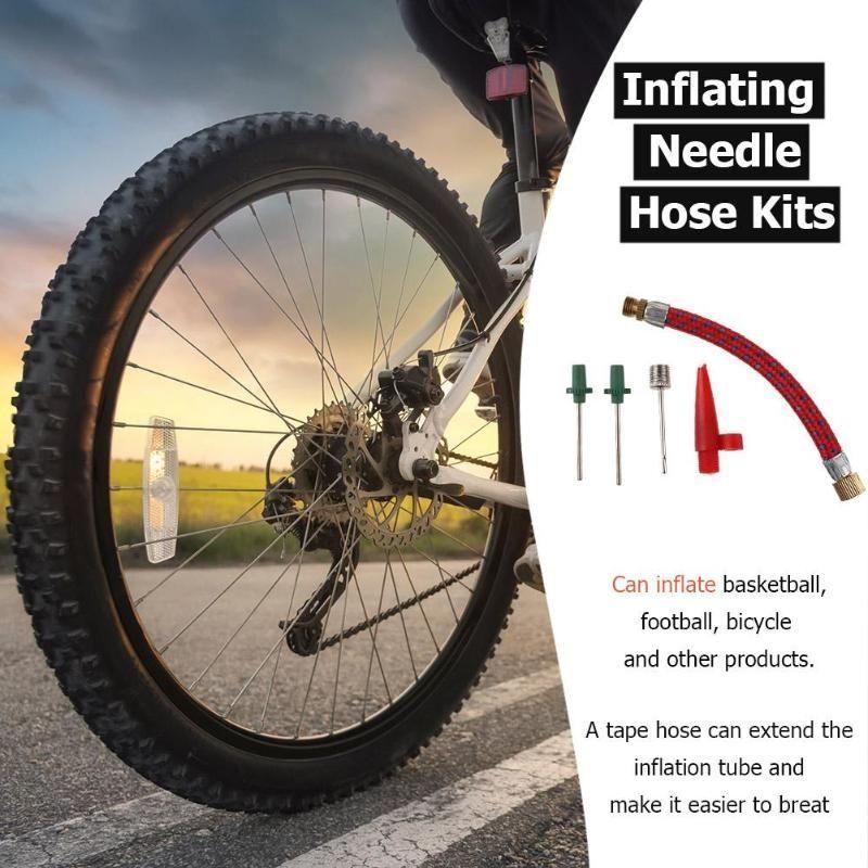 Inflating Needle Kits  Pump Hose Adapter Basketball  Football  Bike Tire Tube
