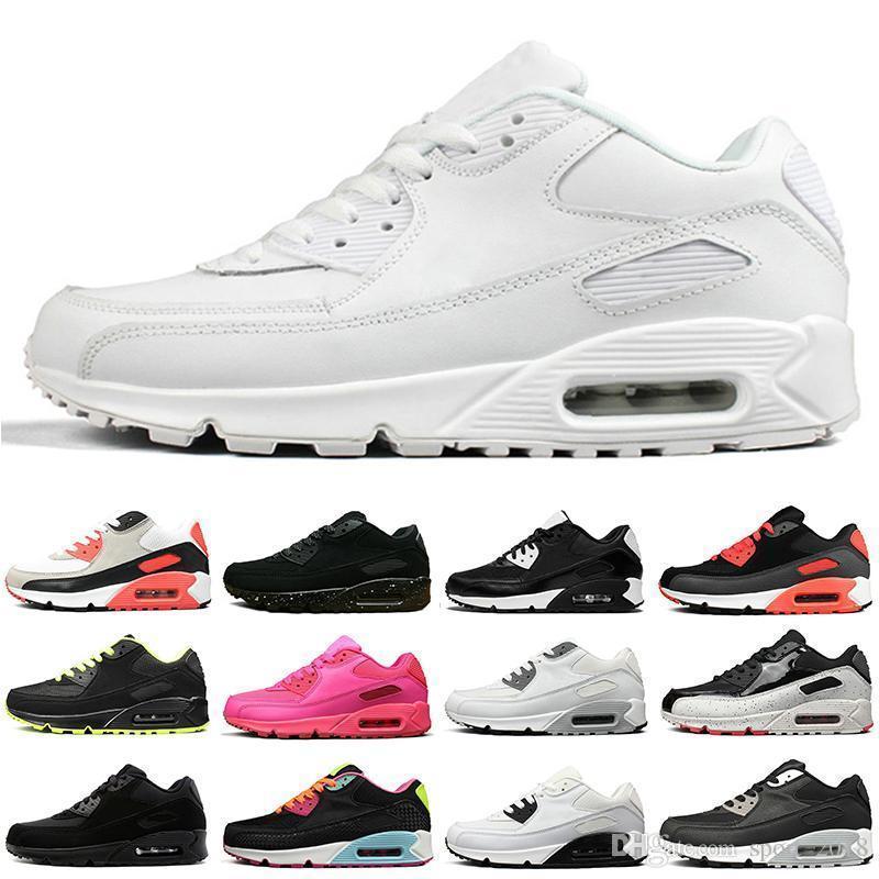 Nouveau Chaussures De Course Pour Hommes Femmes Noir Blanc Oreo Rouge En Cuir Suède Daim Plat Coussin Athlétique Hommes Formateurs Sport Sneakers Casual Marque Chaussure