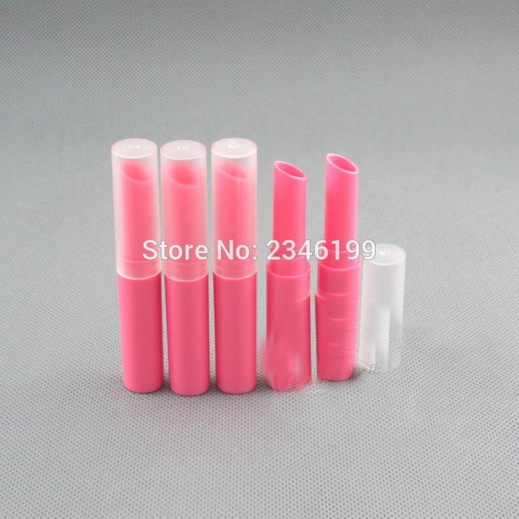 Yeni Marka Eğik Kenar Ruj Tüp, Karanfil / Bej / Rose Red Kozmetik Şişe, Kadın 100pcs için Çoklu Renk Güzellik Aracı / lot
